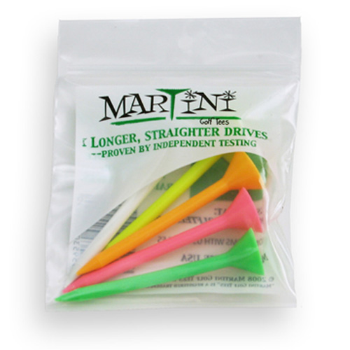 Martini Golf Tees - Assorted (5 Pack)