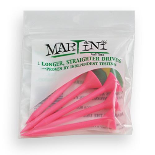"Martini Golf Tees - 3.25"" Pink (5 Pack)"