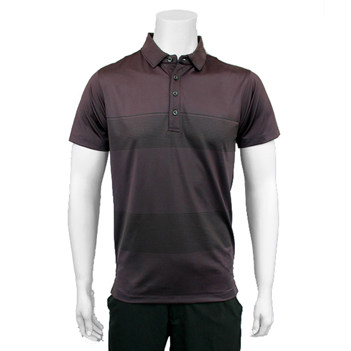 Matte Grey Dropbox Golf Shirt - Wine/Black