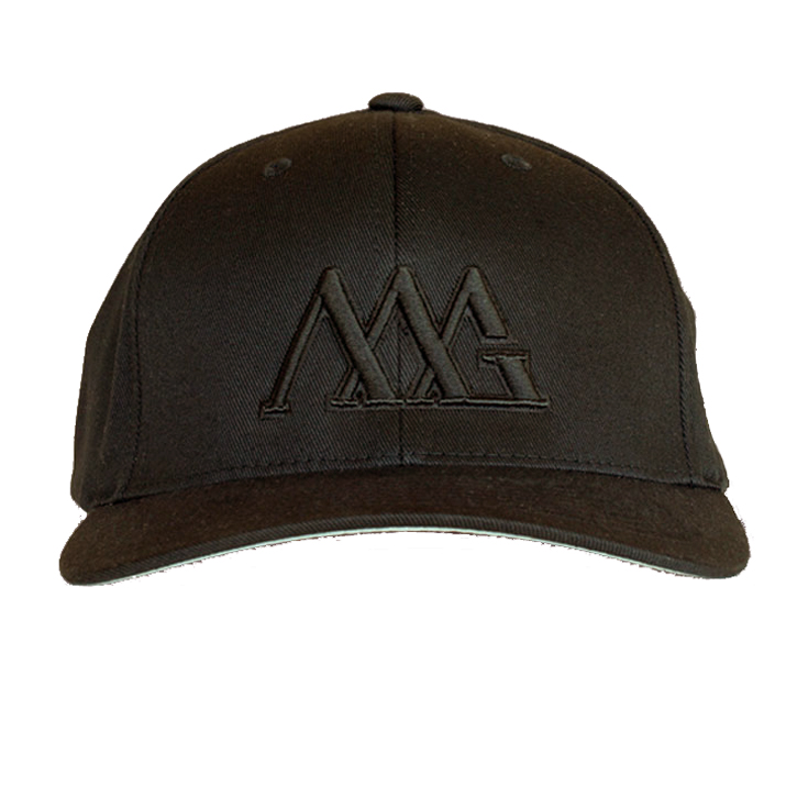 Matte Grey Iconoline Hat - Black