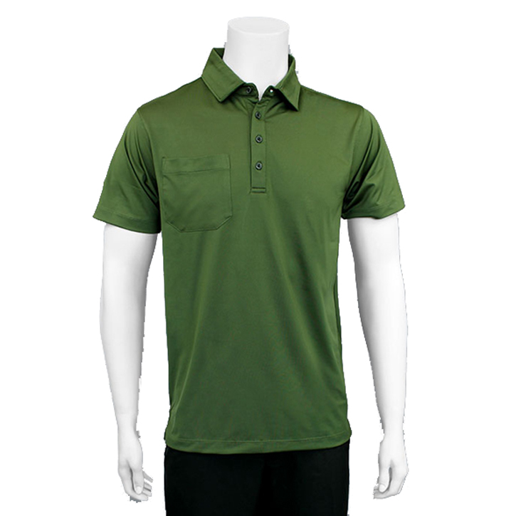 Matte Grey Sarge Golf Shirt - Olive/Black