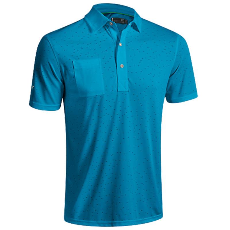 2016 Mizuno Digital Jacquard Polo Shirt - Blue