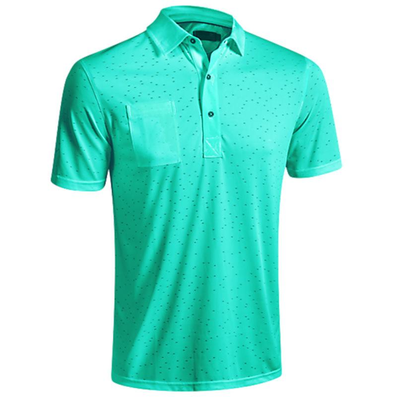 2016 Mizuno Digital Jacquard Polo Shirt - Cockatoo