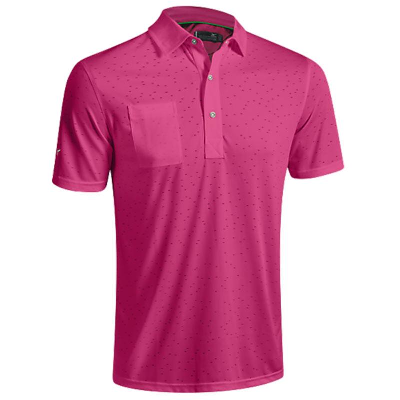 2016 Mizuno Digital Jacquard Polo Shirt - Maroon