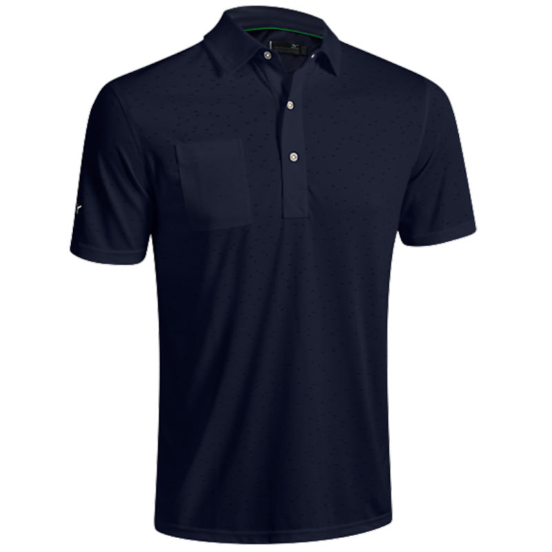 2016 Mizuno Digital Jacquard Polo Shirt - Navy