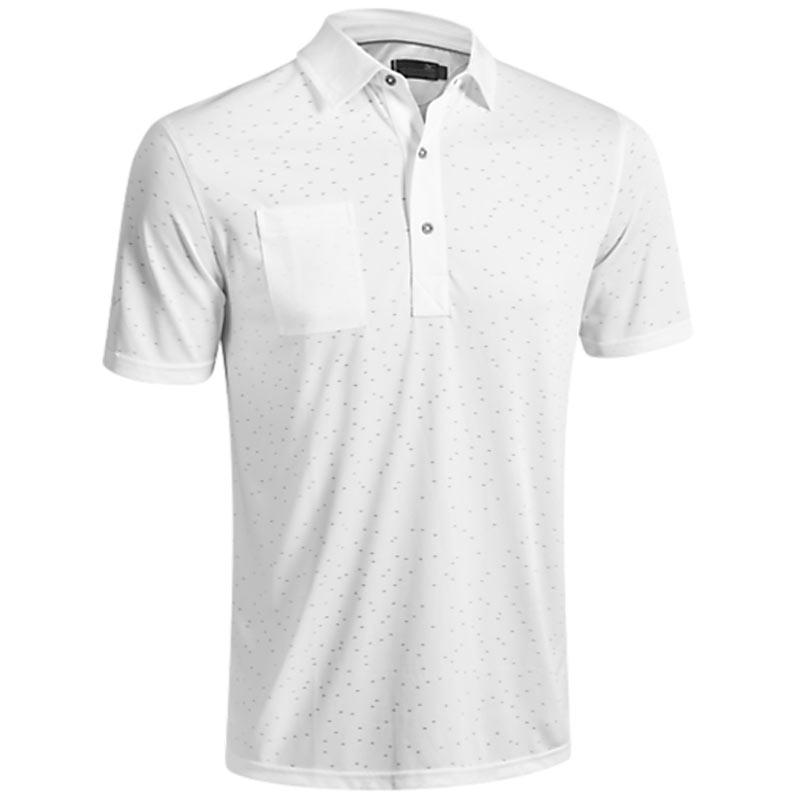 2016 Mizuno Digital Jacquard Polo Shirt - White