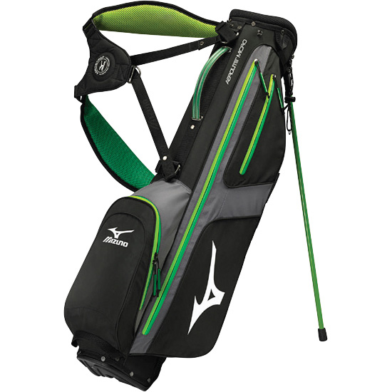 Mizuno Aerolite Micro 6 Golf Stand Bag Black Green At Intheholegolf