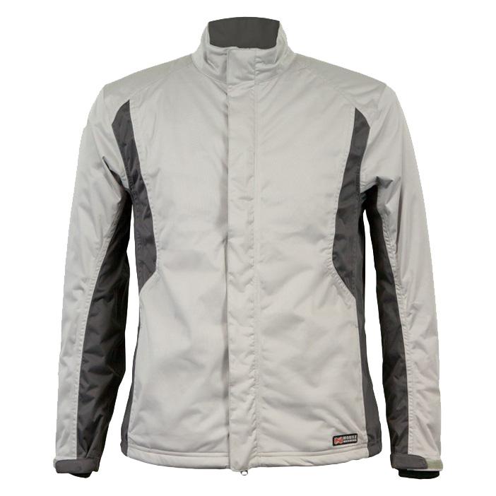 Mobile Warming Balmore Heated Golf Rain Jacket - Mens Silver