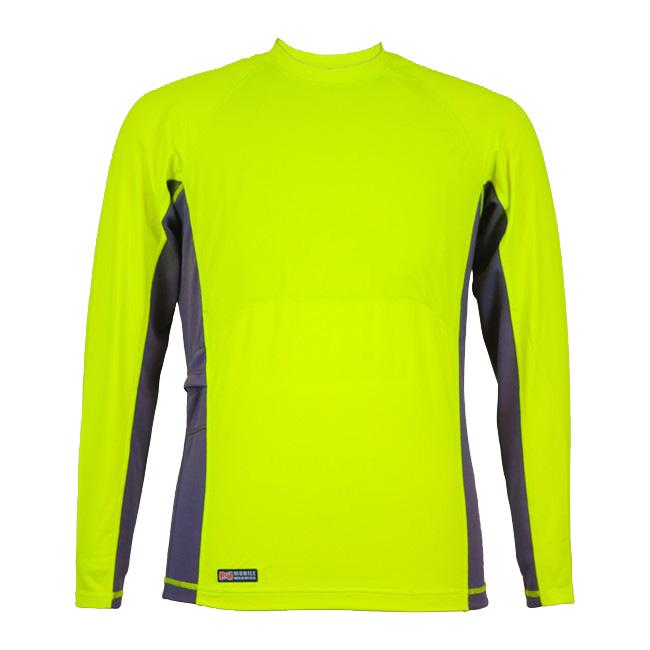 Mobile Warming Longmen Heated Crewneck Shirt - Mens Chartreuse