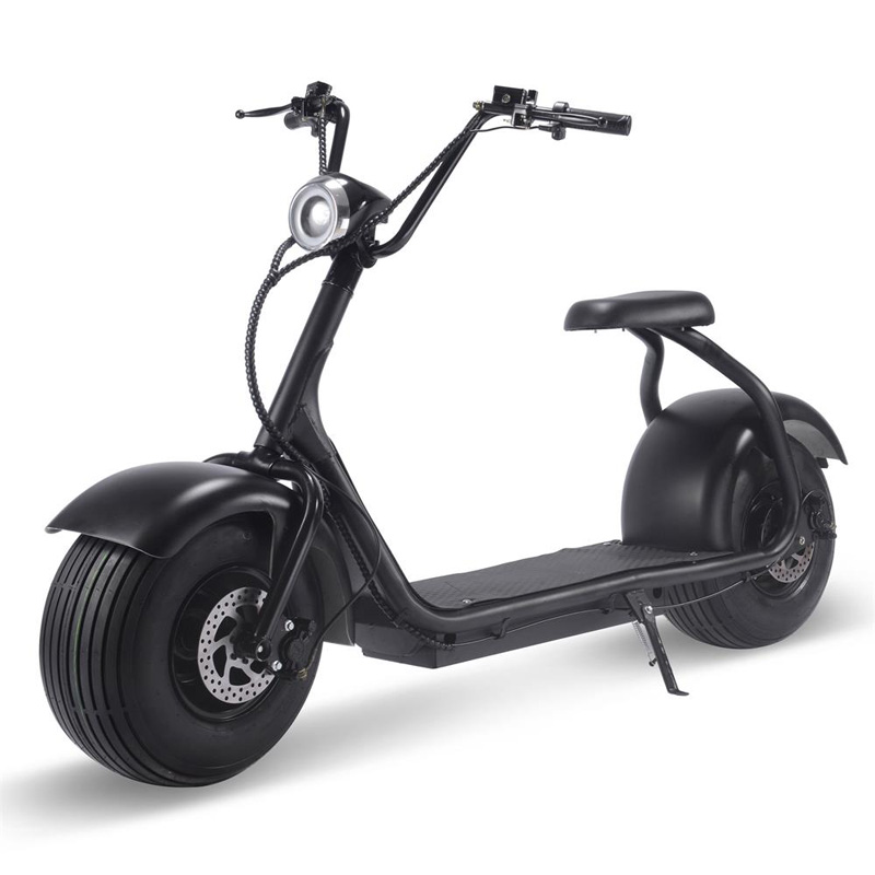 MotoTec Fat Tire 60v 18ah 2000w Lithium Electric Scooter - Black