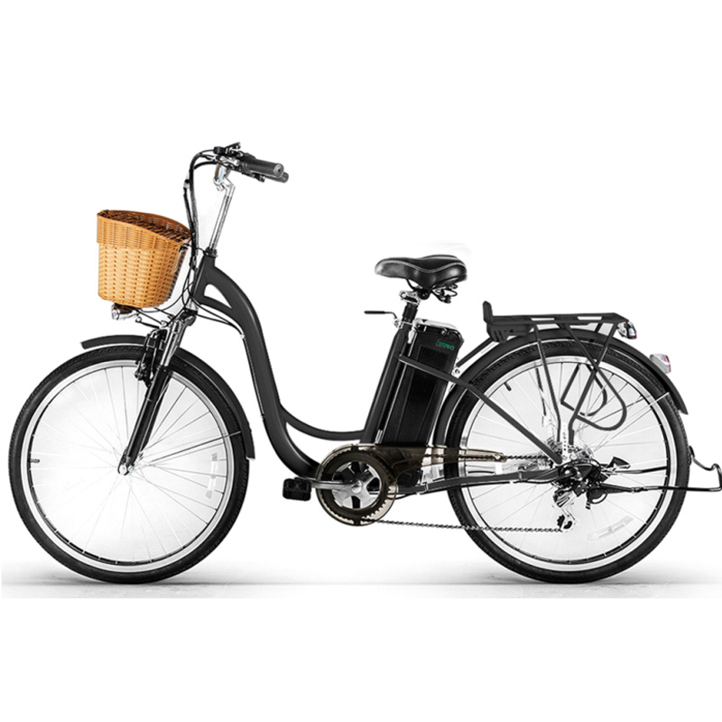 Nakto Camel Low-Step Electric City Bike - Black