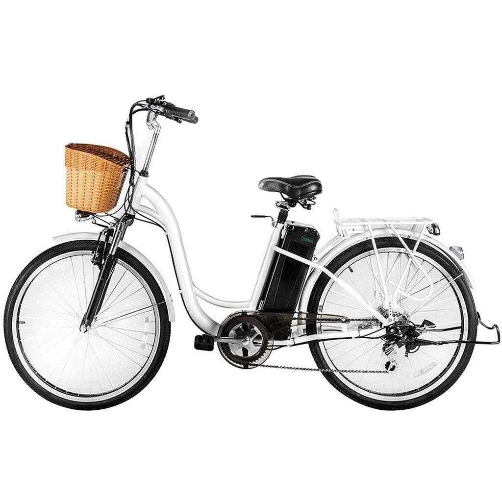 Nakto Camel Low-Step Electric City Bike - White