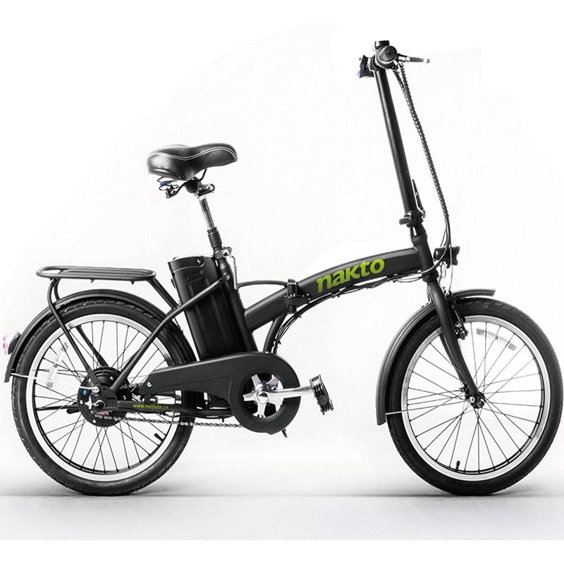 Nakto Fashion Folding Electric Bicycle - Black