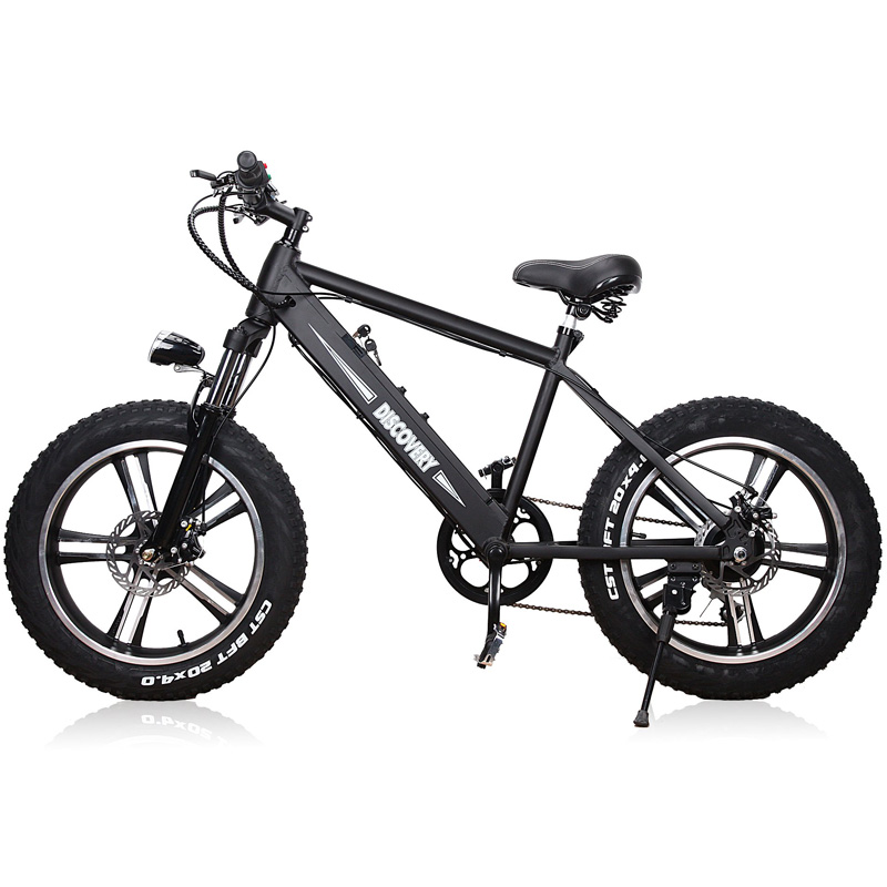 """Nakto Fat Tire Electic Bicycle - Discovery 20"""" - Black"""