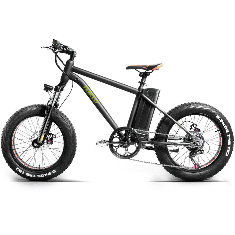 "Nakto Fat Tire Mini Cruiser 20"" Electric Bicycle - Black"