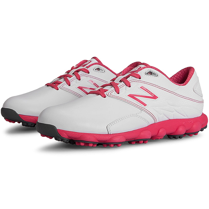 New Balance Minimus LX Golf Shoes - Womens White/Pink