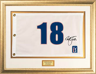 Nick Faldo -- Authographed Flag