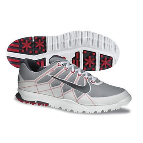 Nike 2013 Air Range WP Golf Shoes - Mens Grey/White/Red