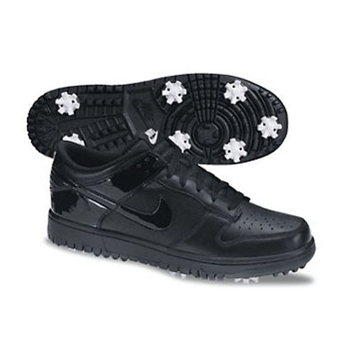 Nike 2013 Dunk NG Golf Shoes - Mens Wide Black at InTheHoleGolf.com