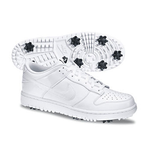 Nike 2013 Dunk NG Golf Shoes - Mens White at InTheHoleGolf.com