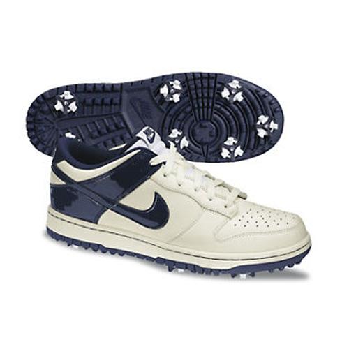 Image of Nike 2013 Dunk NG Golf Shoes - Mens Sail/Blackened Blue
