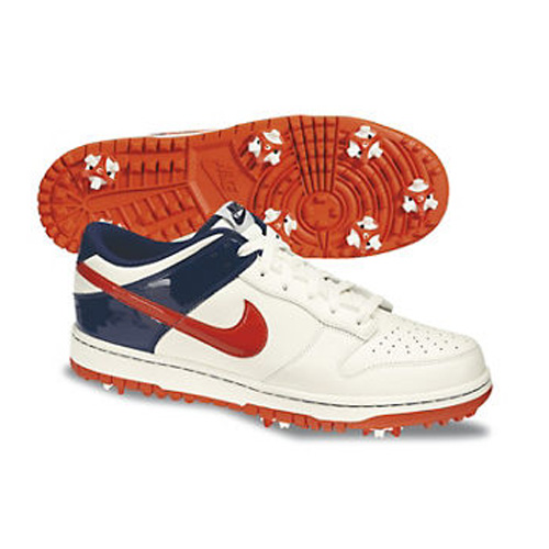 Nike 2013 Dunk NG Golf Shoes - Mens Sail/Orange/Blue at InTheHoleGolf.com