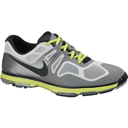Nike Lunar Ascend Golf Shoes - Mens Grey/Black/Green