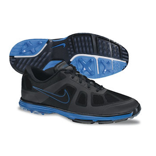 Nike 2013 Lunar Ascend Golf Shoes - Mens Black/Blue