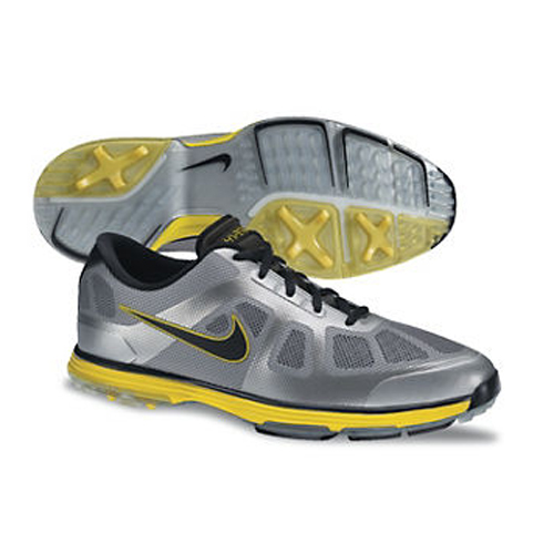 Nike 2013 Lunar Ascend Golf Shoes - Mens Grey/Black/Silver Image