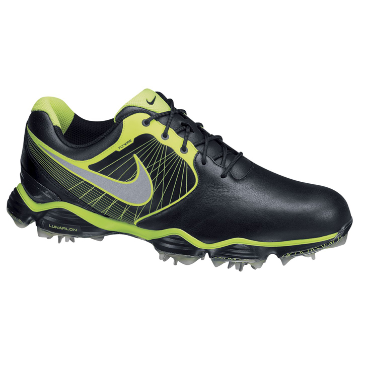 Nike Lunar Control II Golf Shoes - Mens Black/Silver/Volt