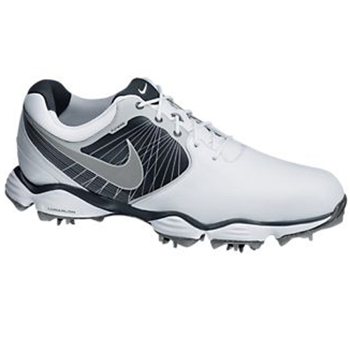 Nike Lunar Control II Golf Shoes - Mens White/Platinum/Silver