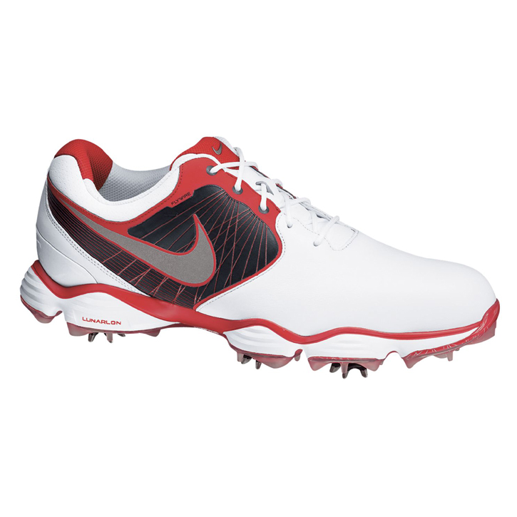 Nike Lunar Control II Golf Shoes - Mens White/Silver/Red