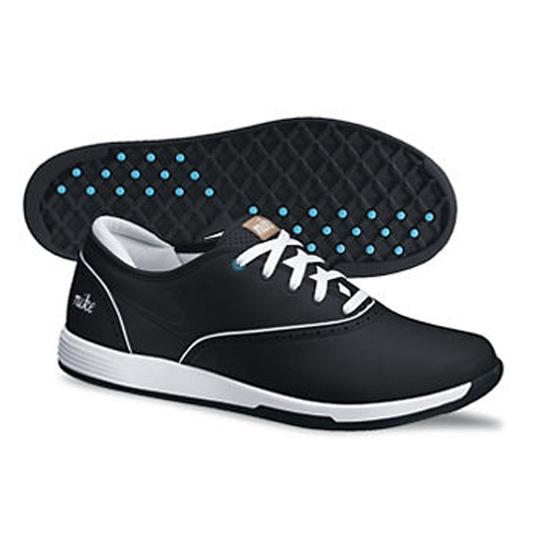 Nike 2013 Lunar Duet Classic Golf Shoes - Womens Black/White/Turquoise Image