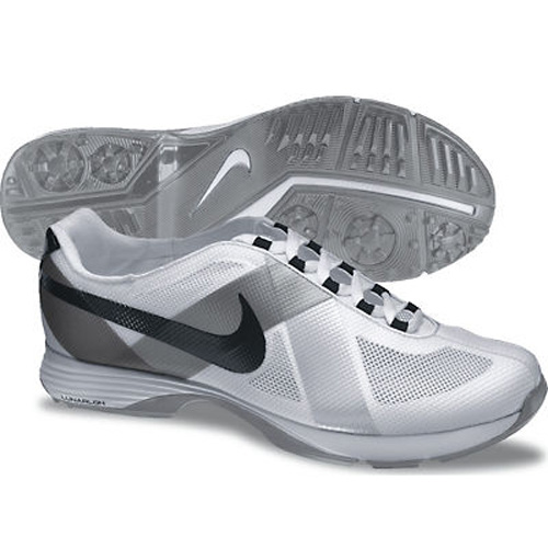 Image of Nike 2013 Lunar Summer Lite Golf Shoes - Womens Wide White/Black/Silver