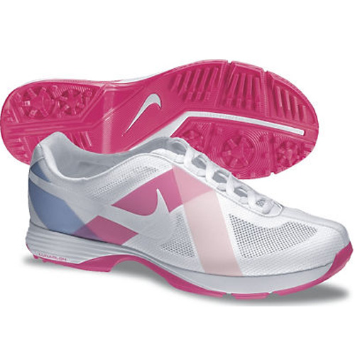 Nike 2013 Lunar Summer Lite Golf Shoes - Womens Wide White/Pink