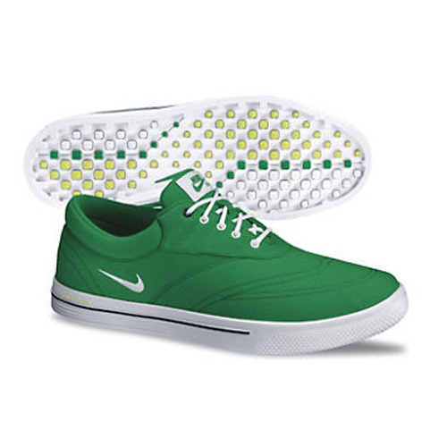 Nike 2013 Lunar Swingtip Golf Shoes - Mens Green/White Image