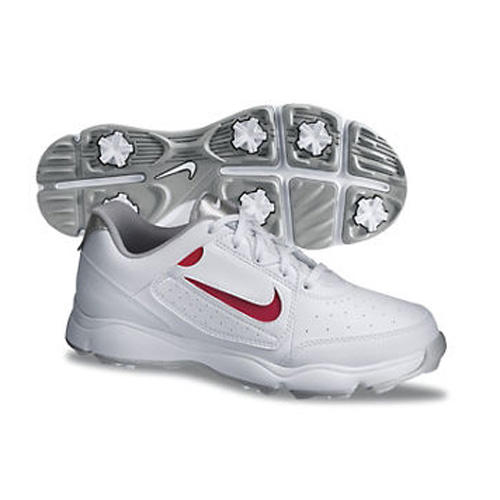 Image of Nike 2013 Remix Junior Golf Shoes - White/Silver