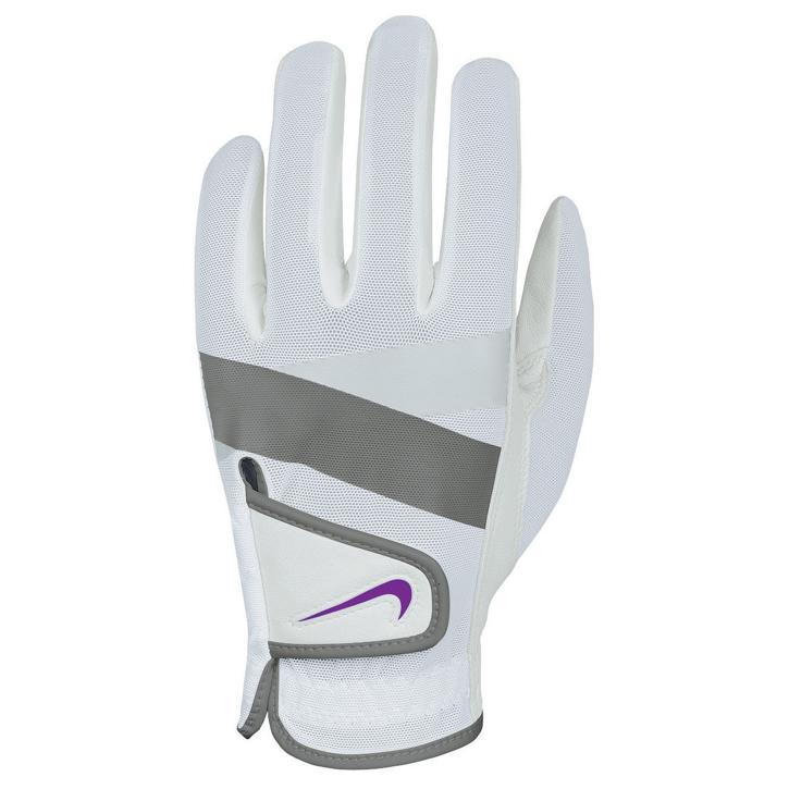 Nike 2013 Womens Summerlite Golf Gloves - White/Grey Image
