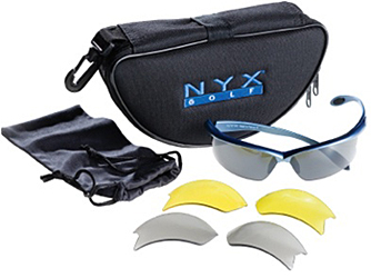 NYX Golf Arrow Ice Blue Sunglasses