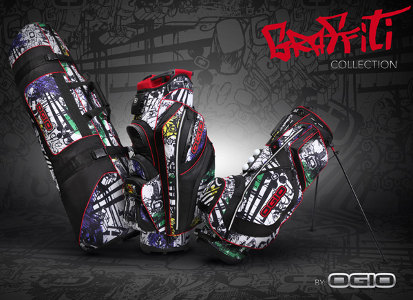 ogio limited edition graffiti golf bag collection, ozone, itza, straight jacket
