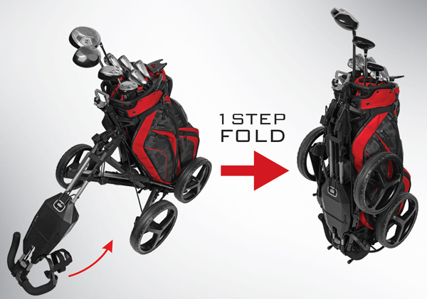 ogio synergy x4 golf push cart folding sequence