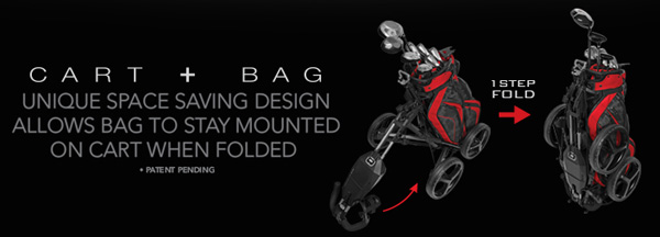 ogio x4 synergy golf push cart 1 step folding