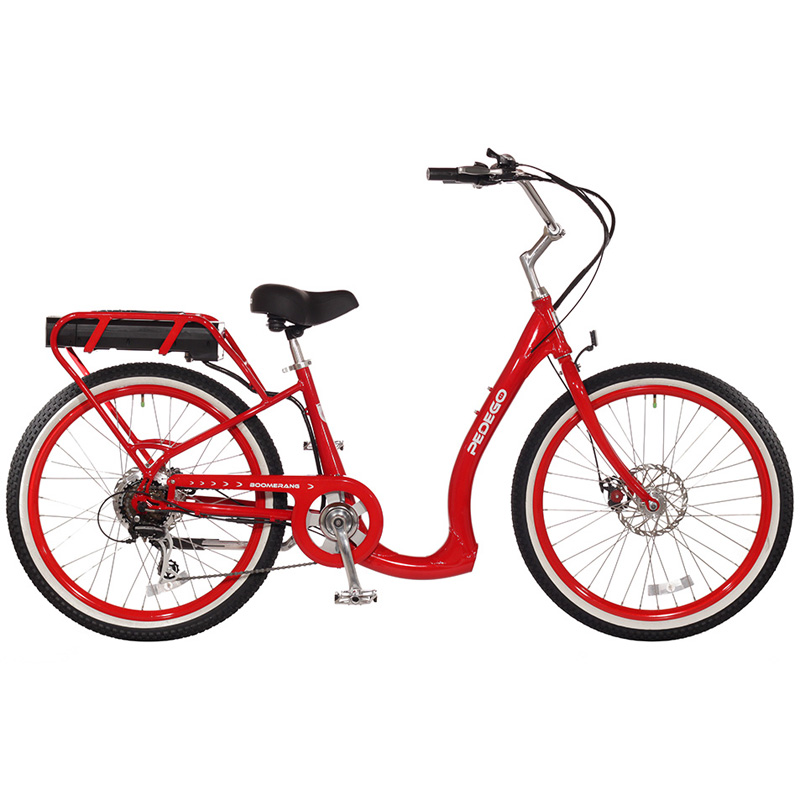 2019 Pedego Boomerang Plus Electric Bicycle - Red/Black