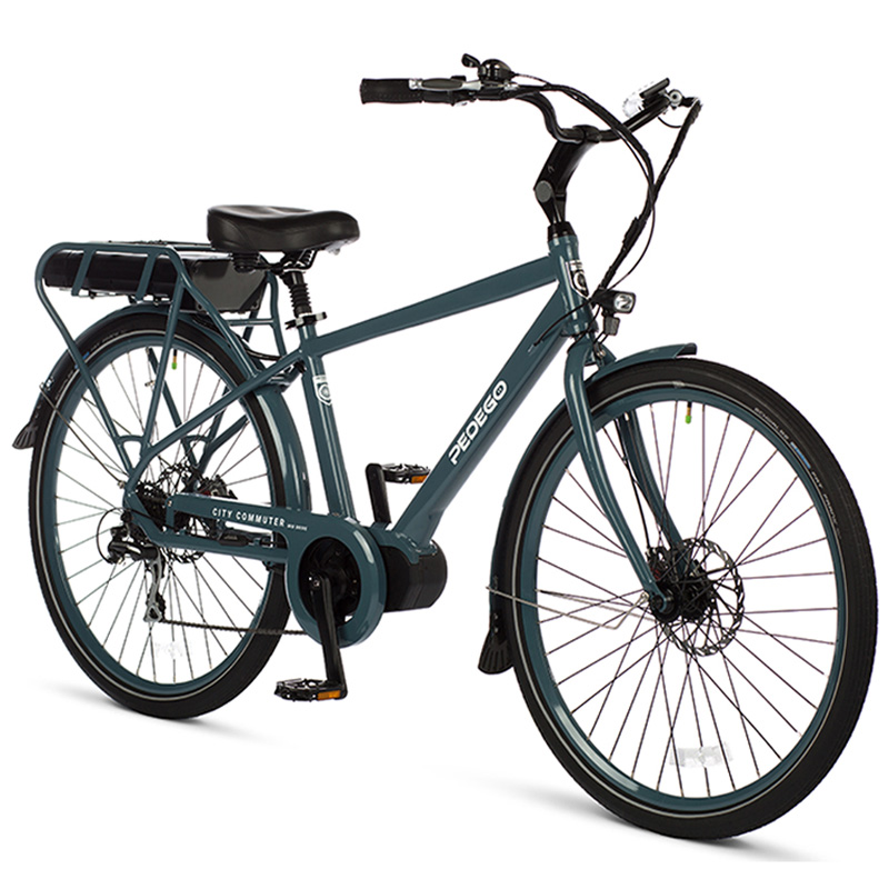 "2019 Pedego Classic City Commuter Mid-Drive Electric Bicycle 28"" - Anvil Blue"