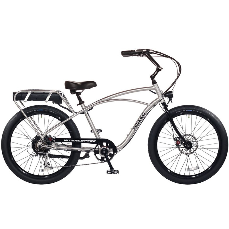 2019 Pedego Classic Interceptor III Electric Bicycle - Brushed Aluminum