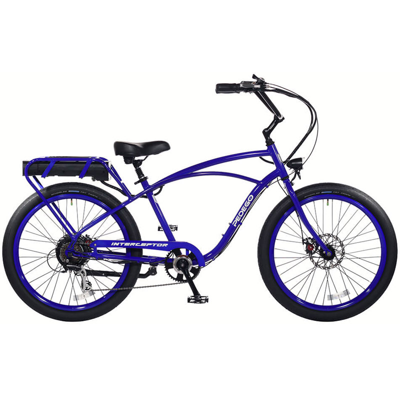 2019 Pedego Classic Interceptor III Electric Bicycle - Neon Blue