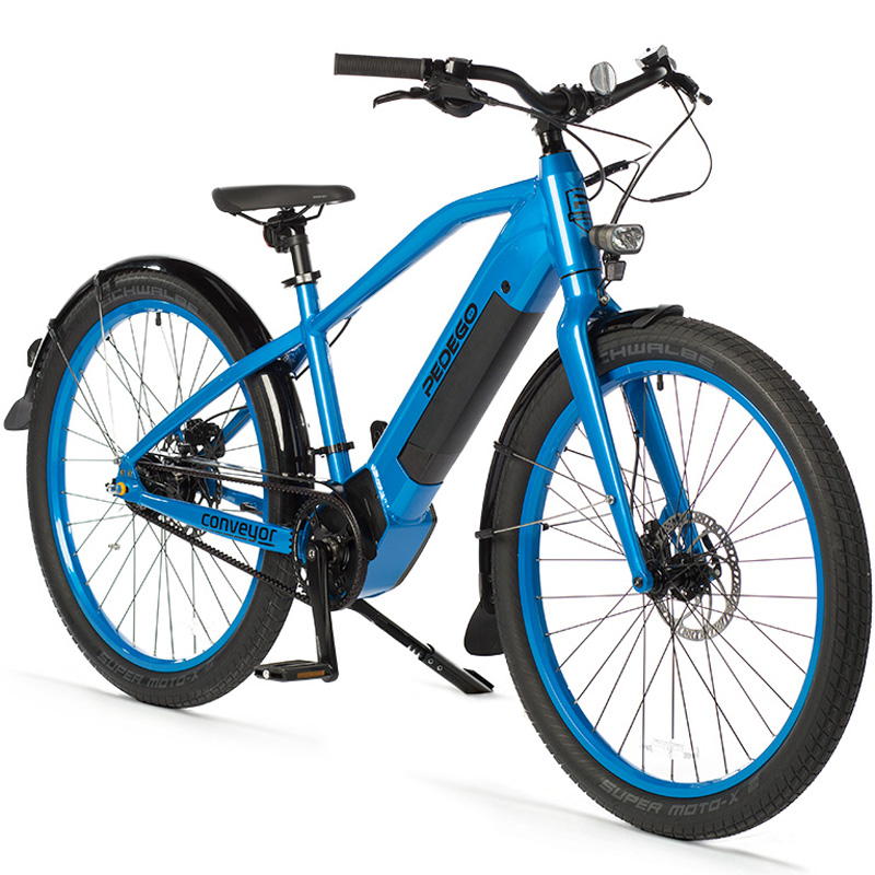 2019 Pedego Conveyor Electric Mid-Drive Bicycle - Blue