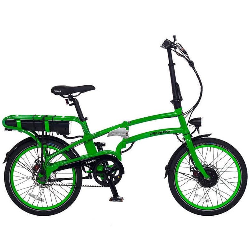2019 Pedego Latch Folding Electric Bicycle - Lime Green