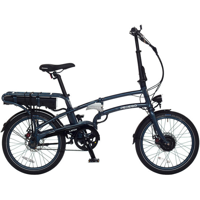 2019 Pedego Latch Folding Electric Bicycle - Space Blue