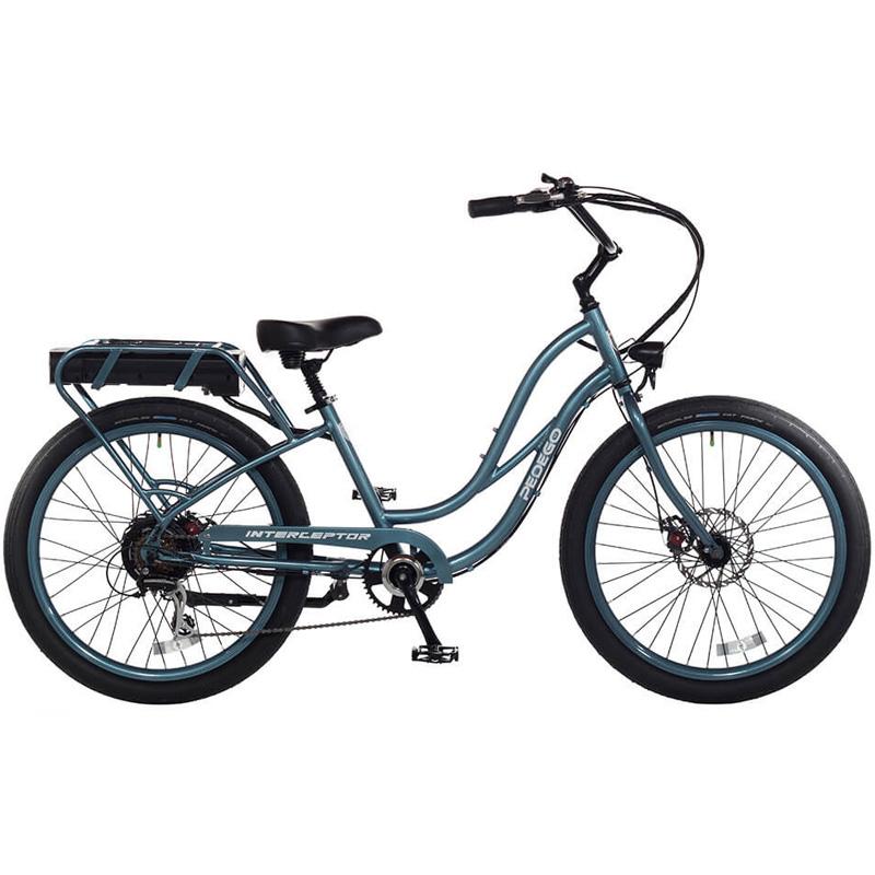 2019 Pedego Step-Thru Interceptor III Electric Bicycle - Mineral Blue